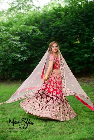 Bridal Lehenga in Pink Ombre