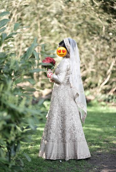 Custm made Gold Bridal Lehenga