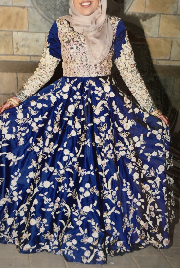 Navy Blue Colour Silk Anarkali