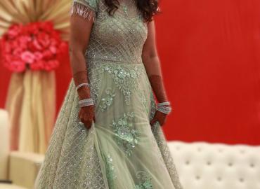 Bawree Sea green Bridal Gown