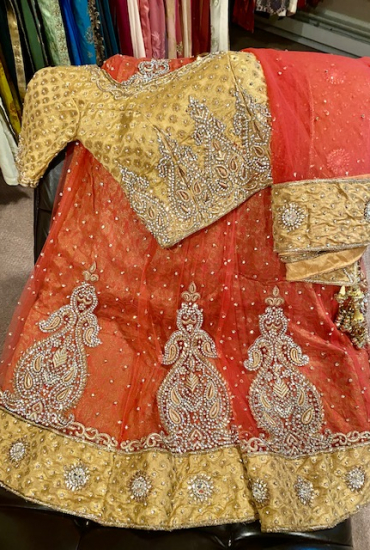 Unique Copper Lehenga