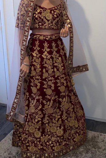 Maroon Indian Bridal Lengha
